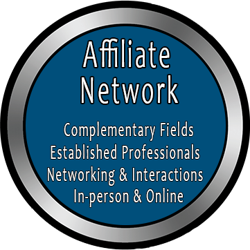 Affiliate Network: Complementary Fields; Established Professionals; Networking & Interactions; In-person & Online
